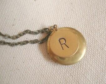 Initial Locket Bridesmaid Locket Monogram Necklace Letter Locket Personalized Locket Long Locket Necklace Personalized Jewelry Initial