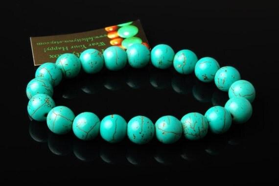 Chunky Turquoise Bracelets Turquoise Bead Bracelet Magnesite Chunky Magnesite Jewelry Stacking Bracelets