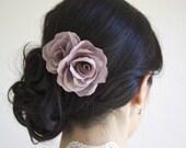 EVELYN Silk Hair Roses, Silk Bridal Flowers, Bridal Hair Comb