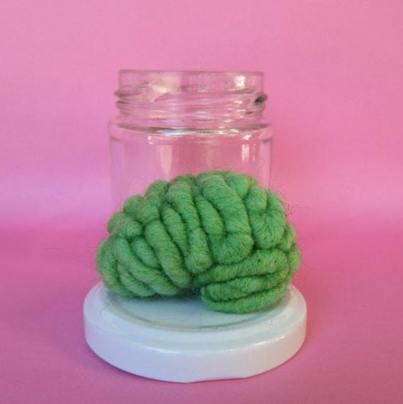 Zombie Brain Specimen Jar Anatomical Curio