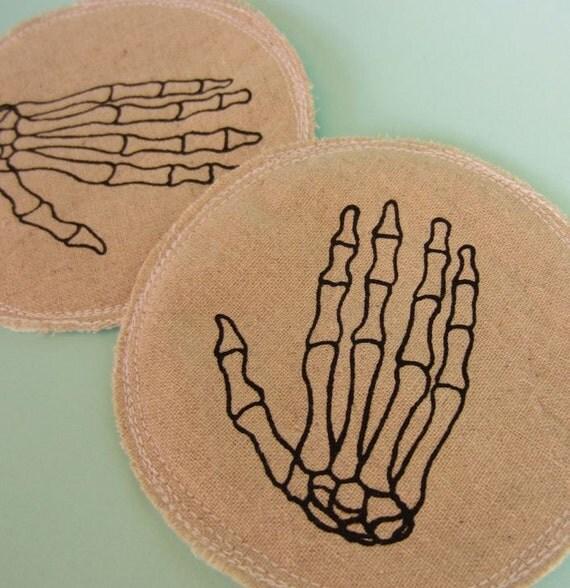 Nursing Pads Skeleton Hands