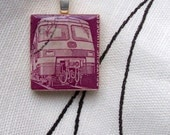 Postage stamp pendant - free shipping