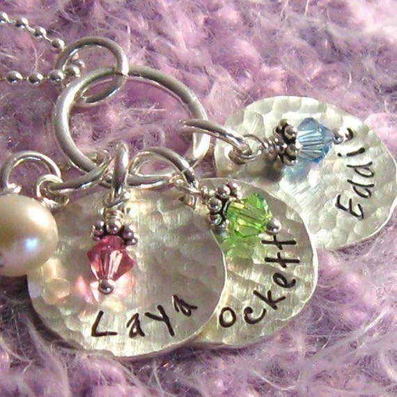 SWEET.peas - - personalized hand stamped necklace . . . . christina guenther