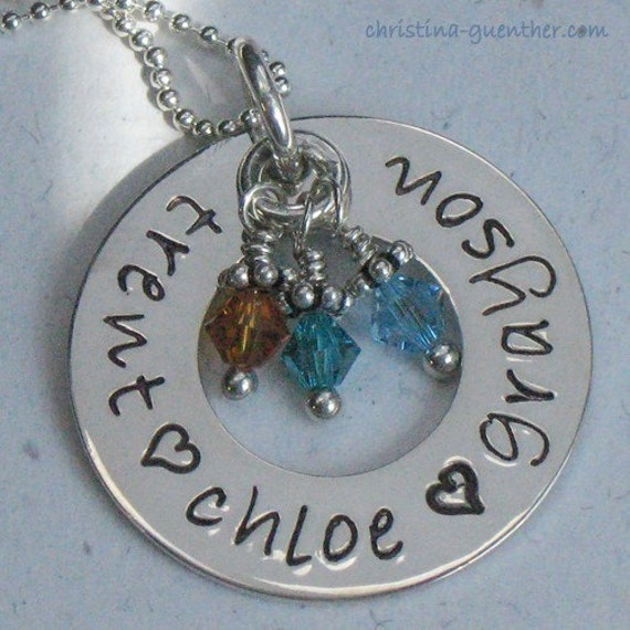 CIRCLE OF LOVE - - personalized hand stamped jewelry