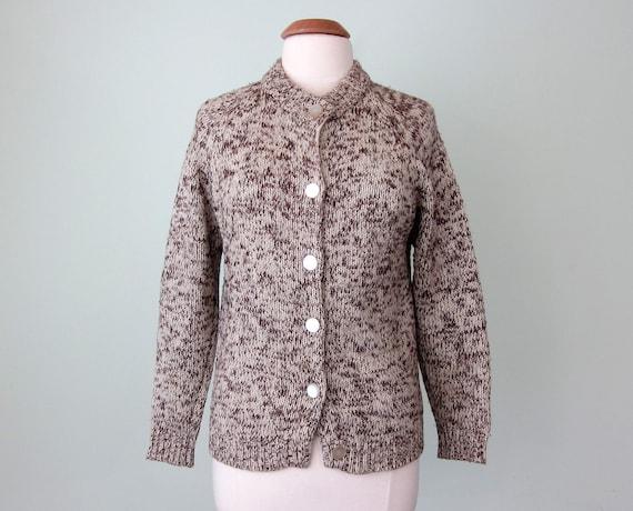60s marled knit cardigan sweater (s - m)