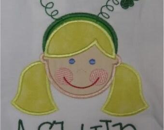 Custom Personalized Girls Shamrock St. Patricks Day Shirt