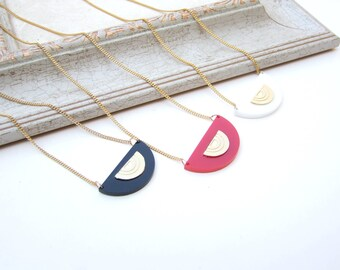Gold Geometric perspex Necklace, Geometric Accessories, Minimalist necklace, Geometric Necklace, Perspex Necklace, Geometric Pendant