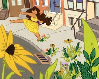 what if... flowers bloomed with your every step illustration