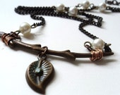 Necklace, Twig, Copper, Sticks, Branches