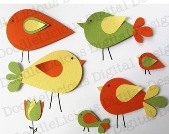 Dewdrop Birds SVG Files