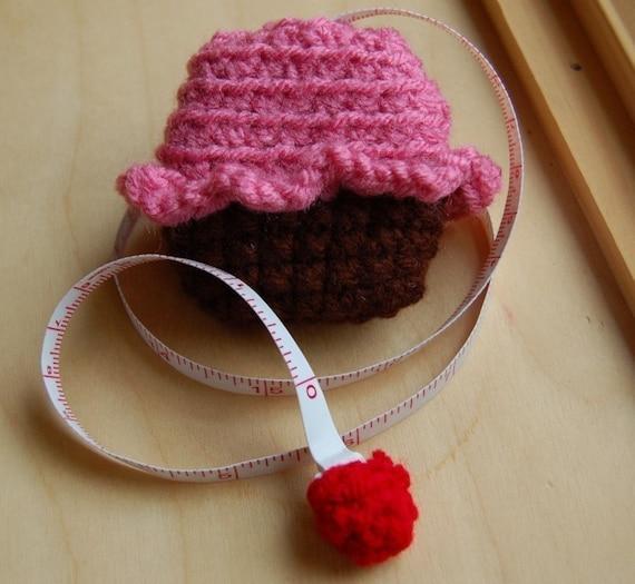 Cupcake Tape Measure- Raspberry Flavor
