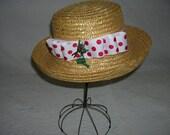 "Vintage Straw Hat ""Dressed for the Garden"""