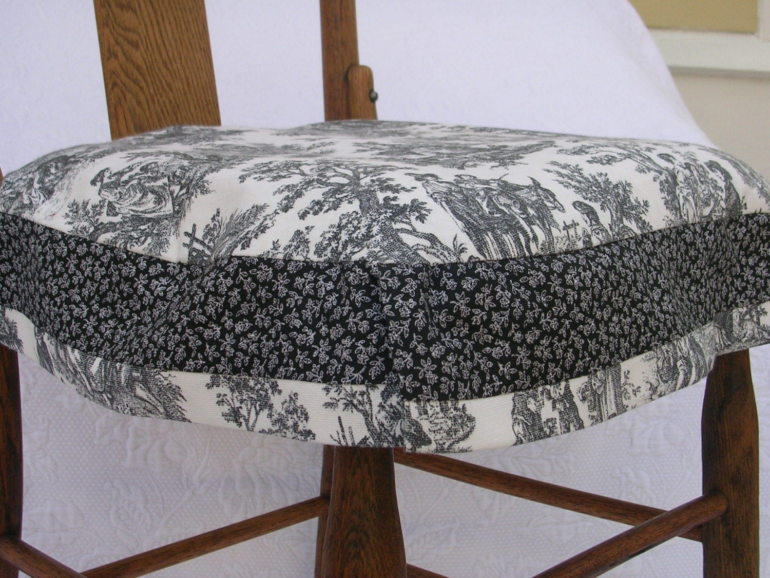 Slipcovers For Chair Cushions Black And White Toile With