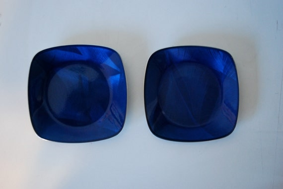 Set of Two Blue Cathrineholm Coasters