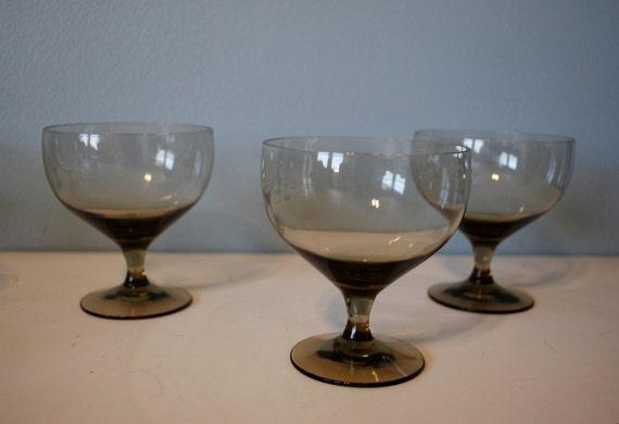 Russel Wright American Modern Smoke Water Goblets