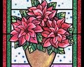 Custom Glitter Christmas Poinsettia
