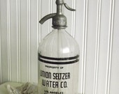 Vintage Seltzer Bottle with Label by avintageobsession on etsy