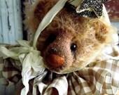 Handmade Mohair Teddy Bear by avintageobsession on etsy