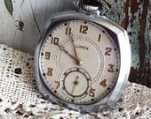 RESERVED LISTING for David Allen...Antique Illinois Pocket Watch Art Deco by avintageobsession on etsy