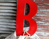 Letter B Initial B Vintage Metal Sign by avintageobsession on etsy