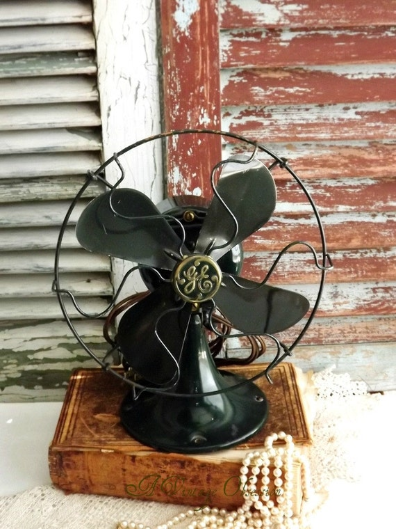 Antique Electric GE Fan by avintageobsession on etsy