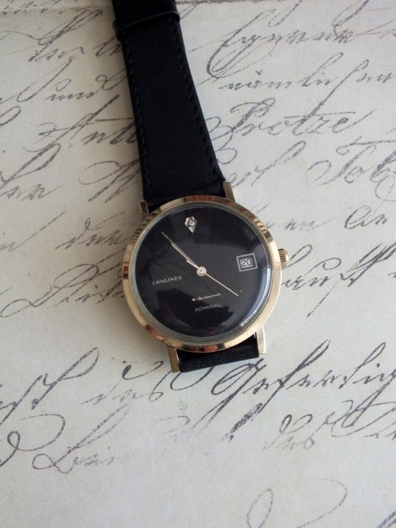 RESERVED LISTING for Miel...Vintage Longines Admiral 5 Star Wrist Watch by avintageobsession on etsy