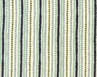 Hope Valley fabric, Canyon Stripe, Denyse Schmidt fabric, New Day blue, yardage, small cut, 14""