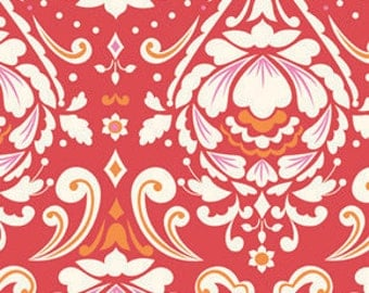 SALE Taza Fabric in red, Dena Designs fabric, Medallion, out of print, OOP, modern floral fabric, choose size of cut