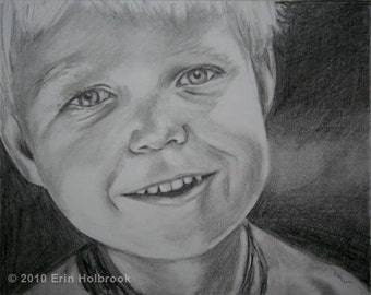 Portrait Drawing, Made to Order Portrait