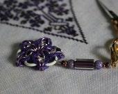 Celtic Scissor Fob - Purple