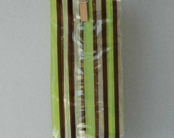 Printed Cellophane Bags - Pistachio & Chocolate Stripe (Set of 25)