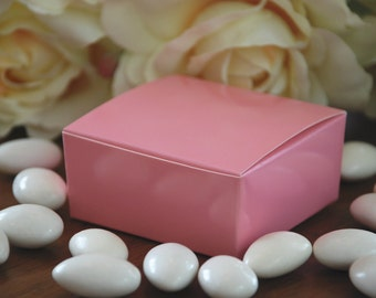 Pink Medium Favor Boxes - Set of 10