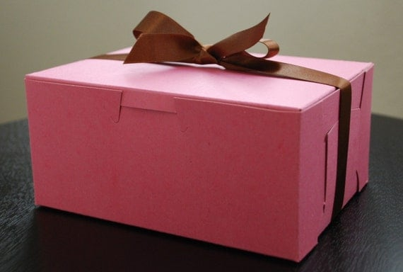 Reserved for burritointenso - Small Pink Bakery Boxes - Set of 5