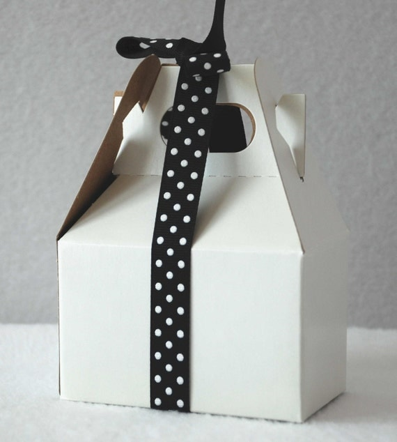 Reserved for Katherine - May Arts Black/White Grosgrain Dot Ribbon - 5/8 inch (8 yards)