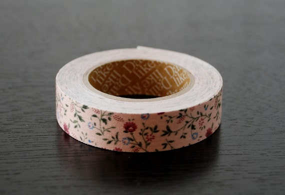 Fabric Tape - Pink Small Floral Print - 1 Roll