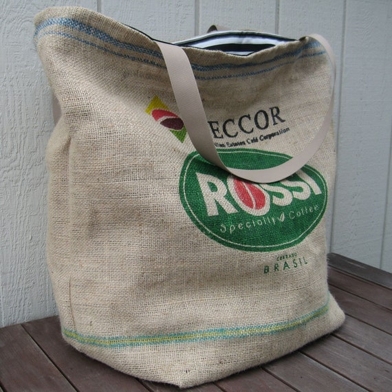 Extra Large Heavy Duty Burlap Coffee Sack Tote Or Laundry Bag