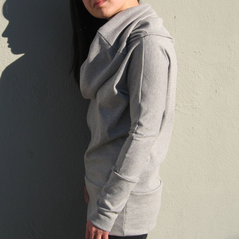 Amazing Versatile Long Cowl Neck Sweatshirt in by finchdesignsf