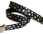 Silver Stars BELT with Buckle Rock Punk Hot Topic Emo Goth Studded Shiny Sparkly