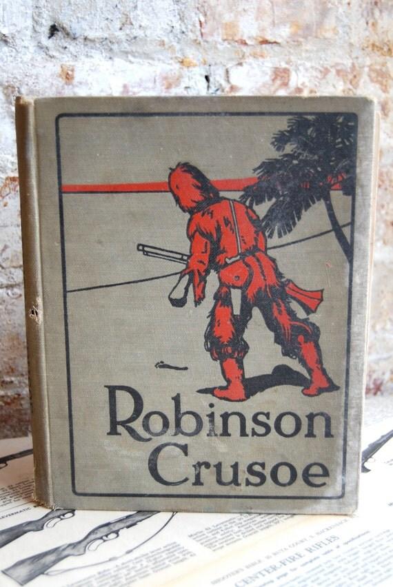 Vintage Robinson Crusoe book
