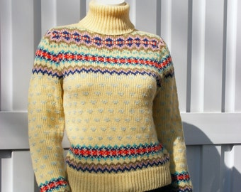 Buttery Yellow Fairisle Sweater