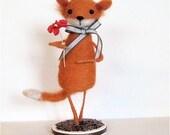 Fox Needle Felted Sculpture Mr. Fox