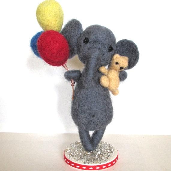 Eli the Elephant Felt Miniature RESERVED