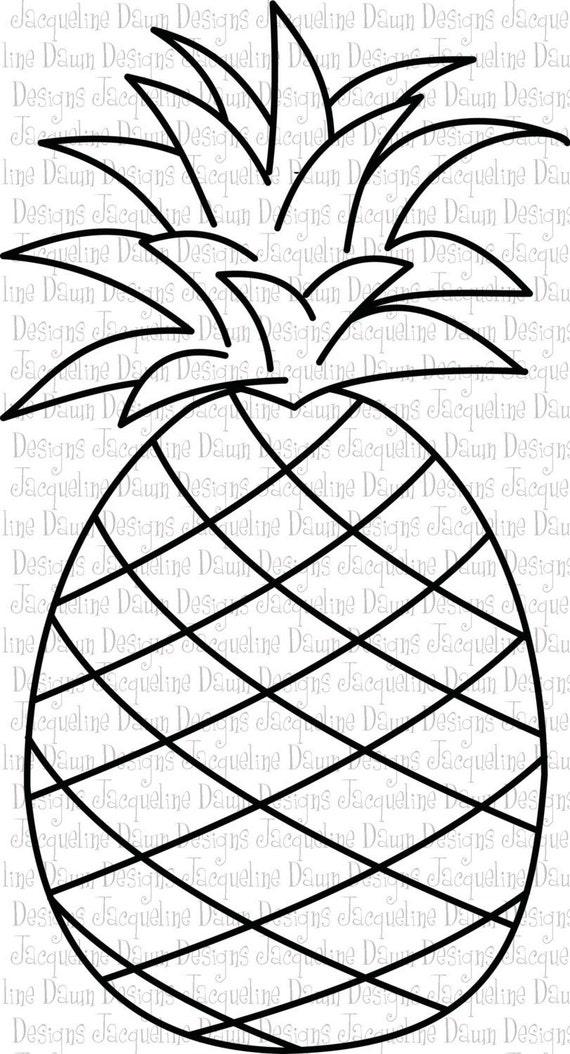 Items Similar To Digital Stamp Hawaiian Pineapple On Etsy