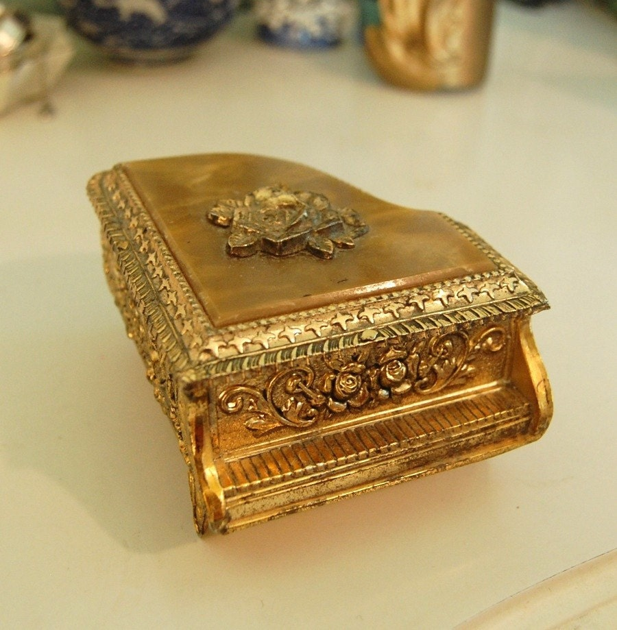 Golden Sankyo Piano Music Box By Beckyplantstrees On Etsy