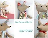 PDF sewing pattern and tutorial- Semi-Fantastic Mr. Fox