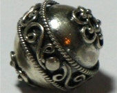 Sterling Bali Focal Bead (1) - On SALE
