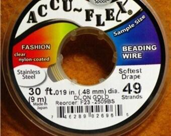 Accu-Flex 49 strand .019 - (30 ft.) - DIJON GOLD