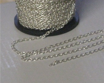 Sterling Silver 2 x1.5mm Cable Chain (3 ft listing)