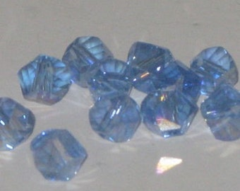 Lt. Sapphire AB Helix Swarovski Crystals (6mm)10 beads