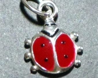Sterling Silver Lady Bug Charm (1)